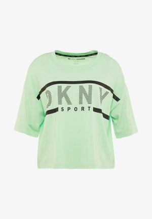 CROPPED LOGO TEE - T-shirts med print - spearmint