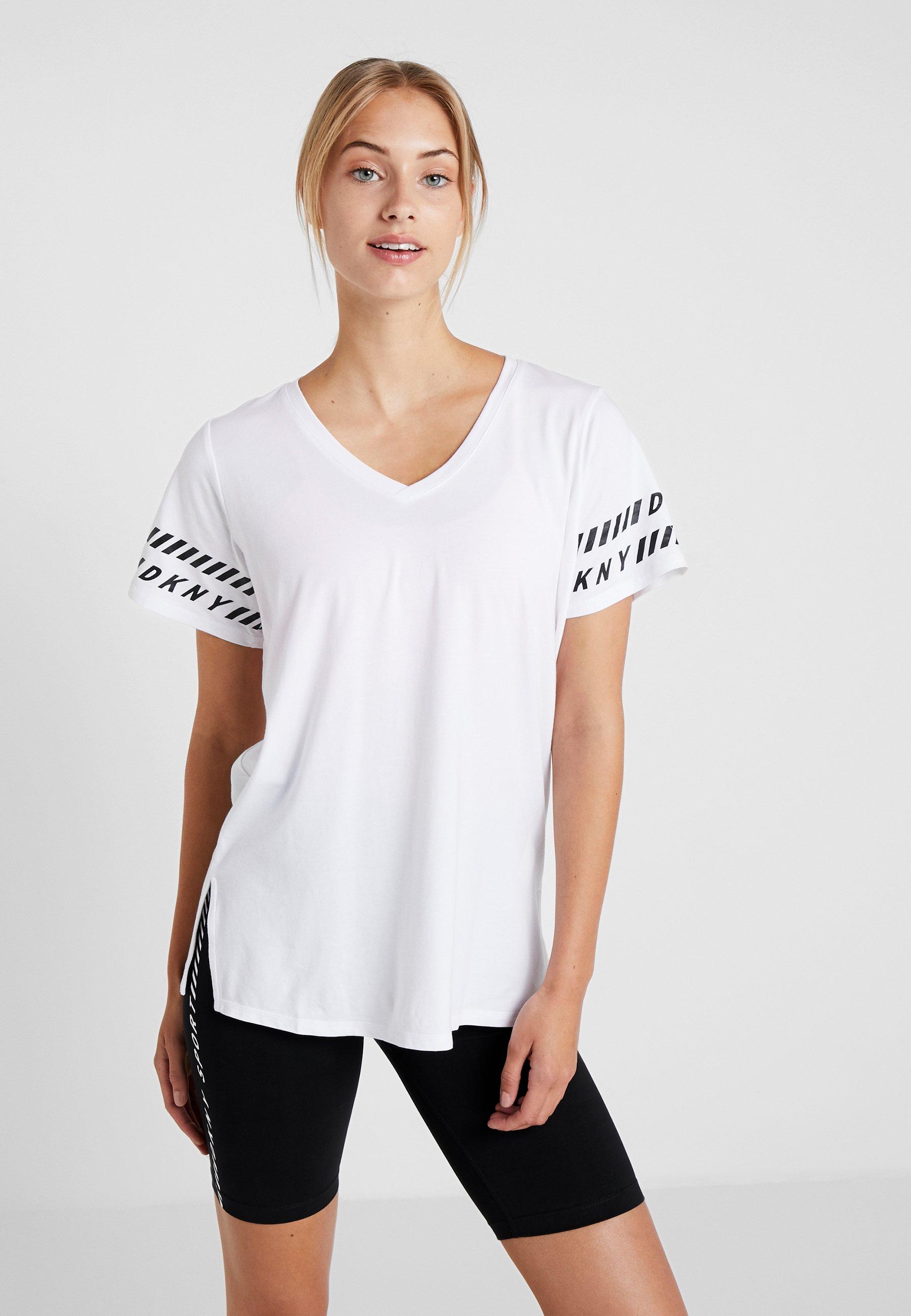 neck White shirt V Dkny TeeT Imprimé 3A54jLRq