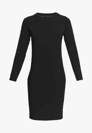 LONG SLEEVE CREW NECK DRESSW LOGO ELASTIC - Jerseykjole - black