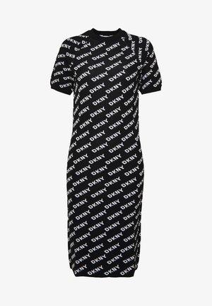 CREWNECK LOGOSWEATER DRESS - Sportovní šaty - black