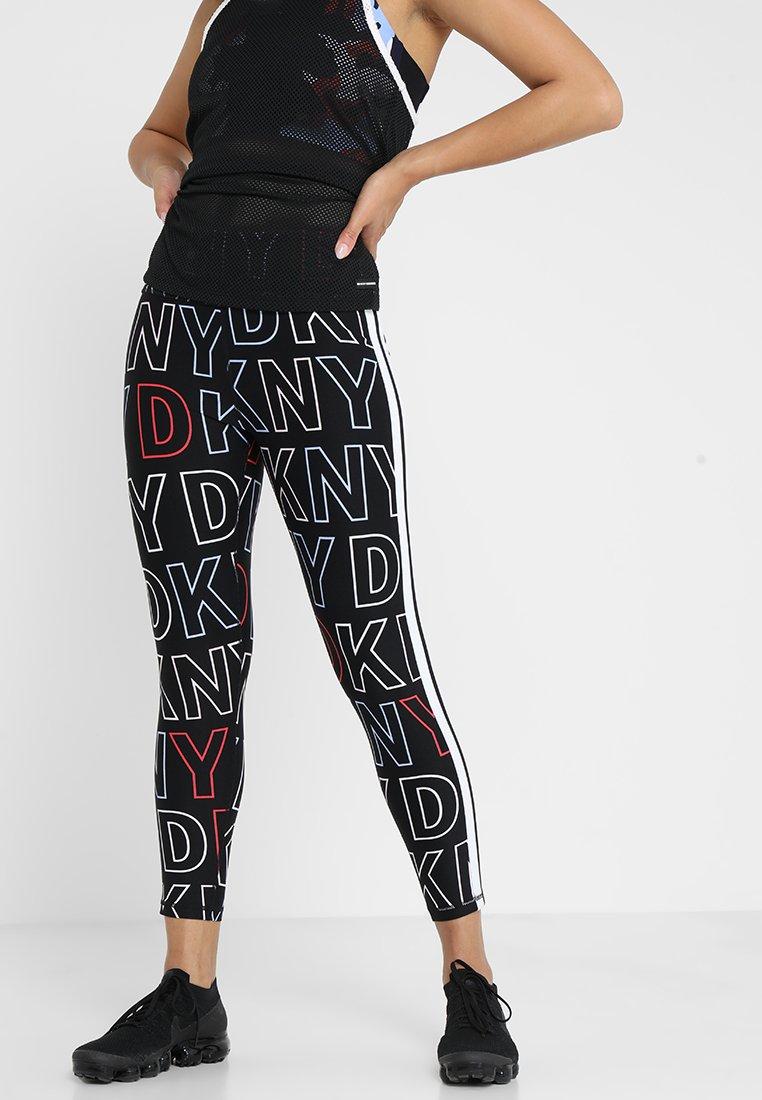DKNY - LOGO FRAMEWORK LENGTH HIGH WAIST  - Tights - multi-coloured