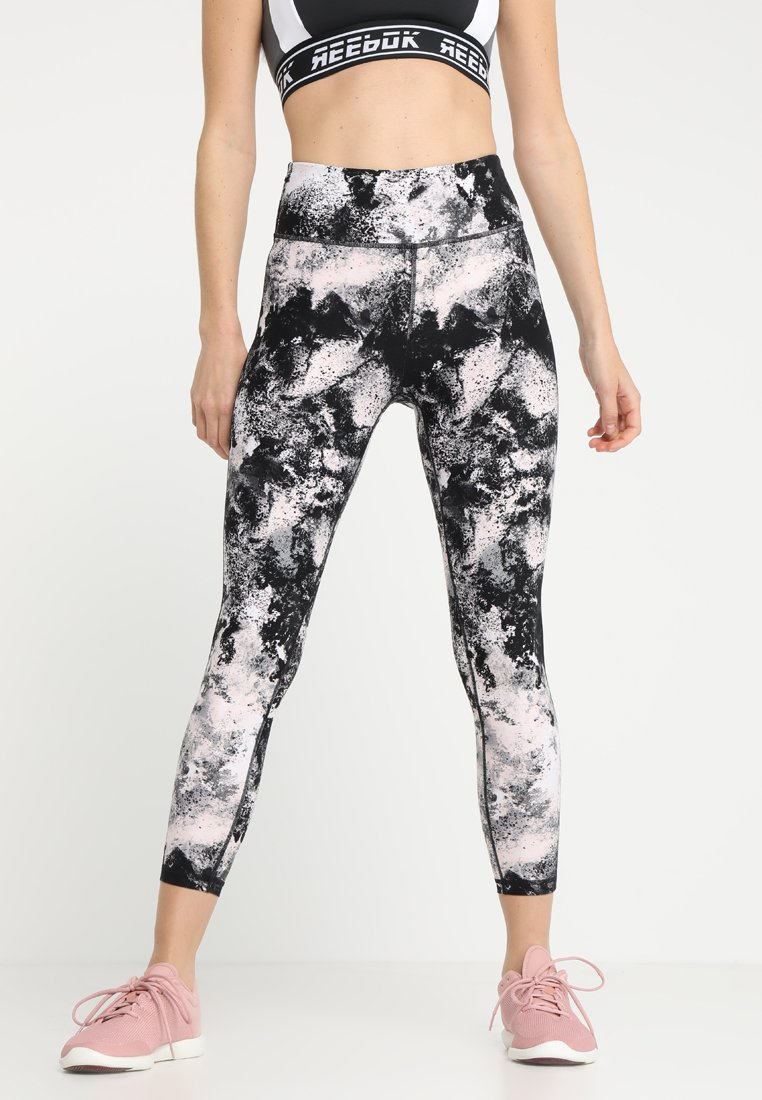 DKNY - ASTEROID HIGH WAIST LOGO - Tights - rosewater