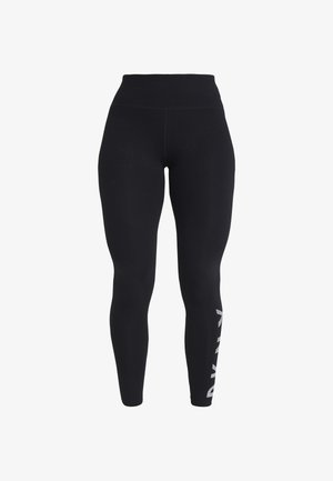 HIGH WAIST FULL LENGTH STRIPED LOGO LEGGING - Collants - black/white