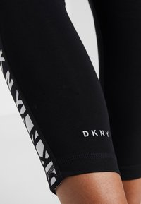 DKNY - TWO TONE LOGO HIGH WAIST LEGGING - Punčochy - black - 5