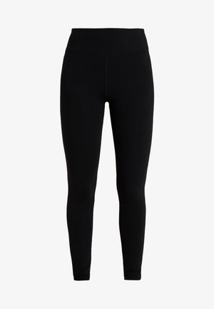 HIGH WAIST LOGO LEGGING - Tights - black