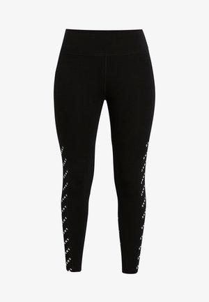HIGH WAIST LEGGING PRINTED LOGO BLOCKING - Collants - black