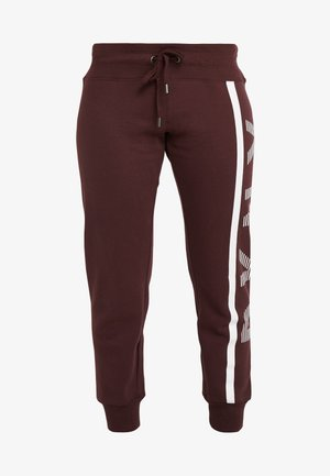 CUFFED JOGGER EXPLODED STRIPE LOGO - Pantalon de survêtement - plum