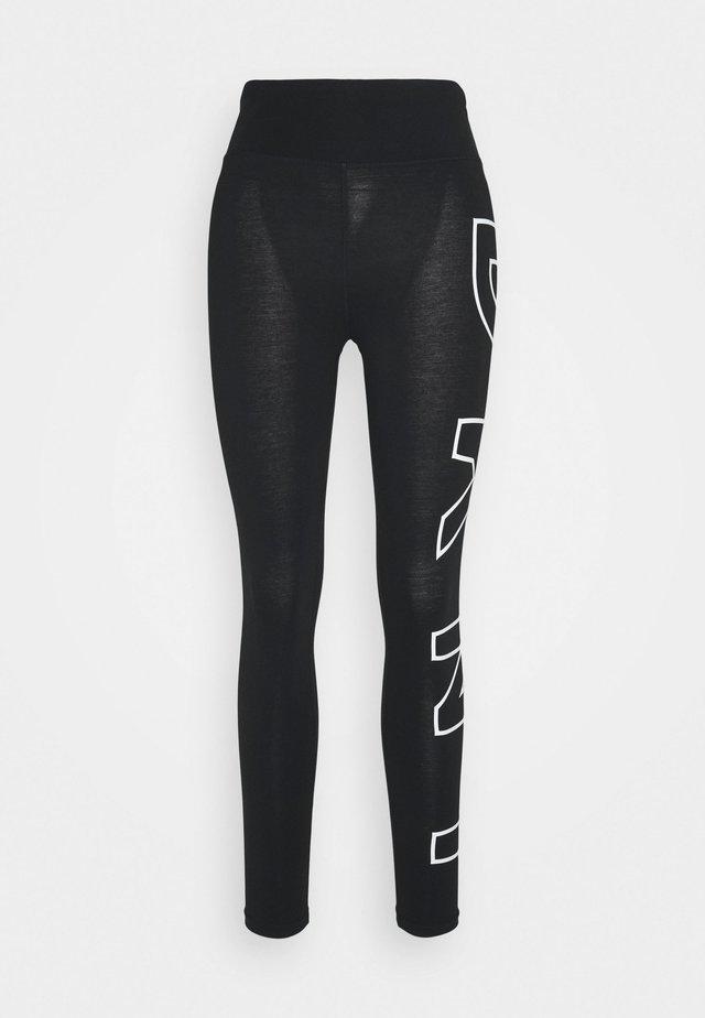 HIGH WAIST LONG LINE LEGGING - Leggings - black/white