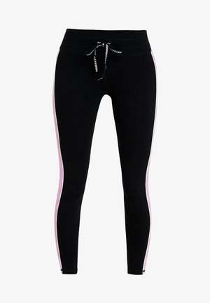 PIPING DETAIL MID RISE 7/8 LEGGING DRAWCORD - Tights - fuschia pink