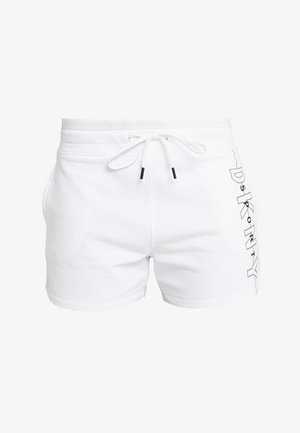 RELAXED SHORT REFLECTIVE LOGO INSEAM - Pantalón corto de deporte - white