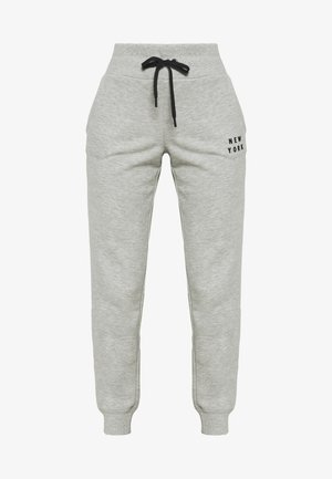 FLOCKED SHADOW LOGOCUFFED - Trainingsbroek - pearl grey heather