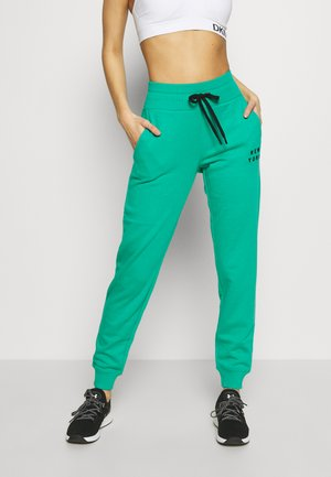 FLOCKED SHADOW LOGOCUFFED - Pantalon de survêtement - jade