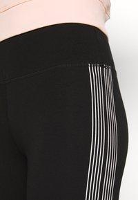 DKNY - HIGH WAIST TRACK LOGO - Leggings - black/white - 6