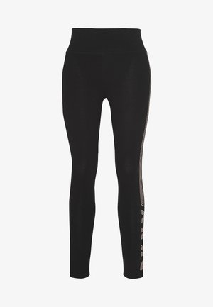 HIGH WAIST TRACK LOGO - Tights - papaya