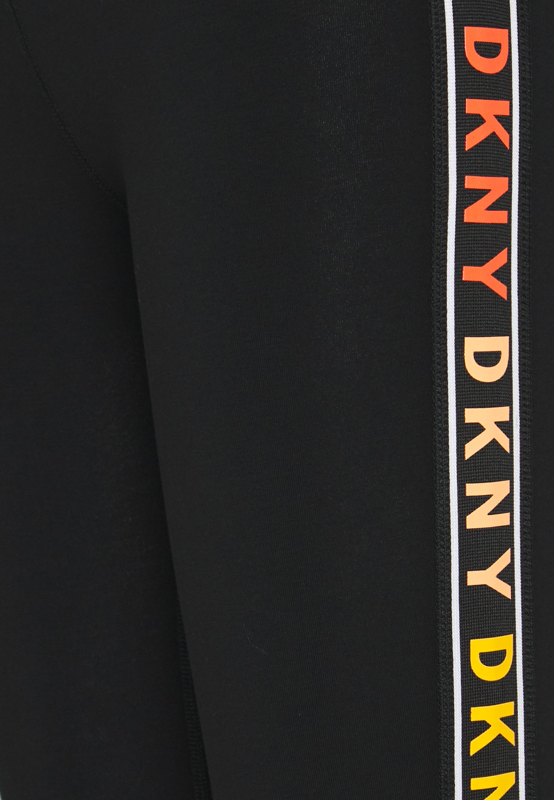 Dkny High Waist 7/8 Legging Logo Webbed Tape - Tights Vermillion Black Friday