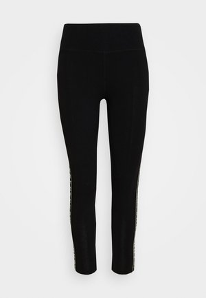 HIGH WAIST 7/8 LEGGING LOGO WEBBED TAPE - Punčochy - black/olive