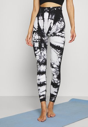 TIE DYE HIGH WAISTED 7/8SEAMLESS - Leggings - black