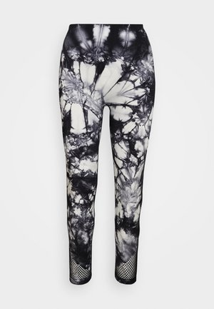TIE DYE HIGH WAISTED 7/8SEAMLESS - Tights - black