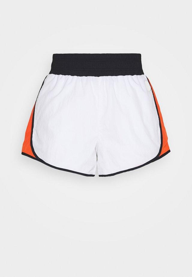 HIGH WAISTCOLORBLOCKED TRACK SHORT - Sportovní kraťasy - white