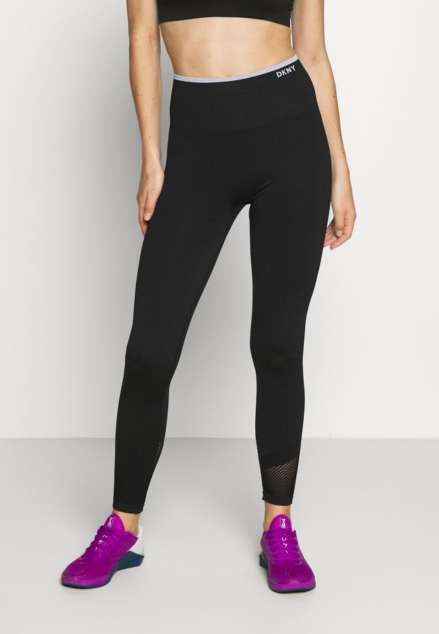 HIGH WAISTED SEAMLESS - Tights - black