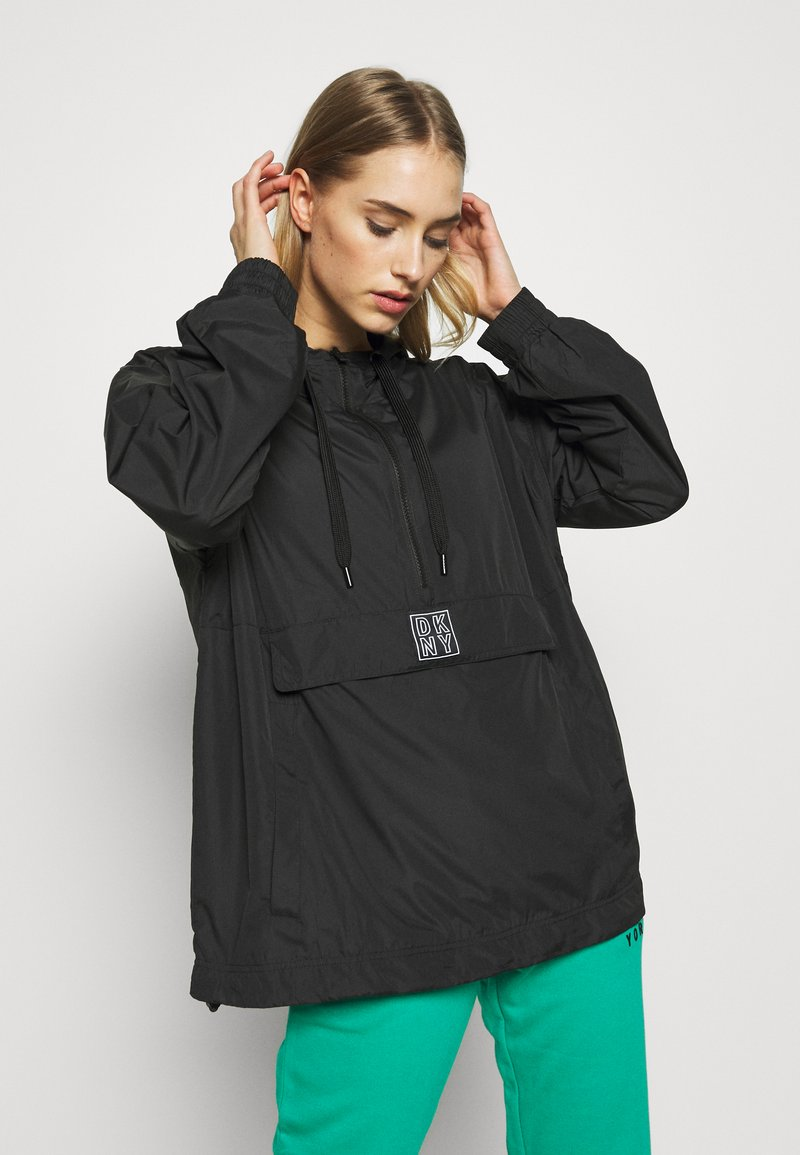 DKNY - HOODED ANORAK - Veste coupe-vent - black