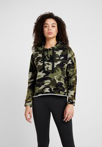 DKNY - CAMO PRINTHOODIE WITH CONTRAST PIPING - Sweat à capuche - vine combo - 0