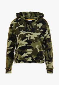 DKNY - CAMO PRINTHOODIE WITH CONTRAST PIPING - Sweat à capuche - vine combo - 4