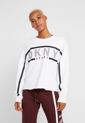 EXPLODED STRIPE LOGO - Sweatshirt - white