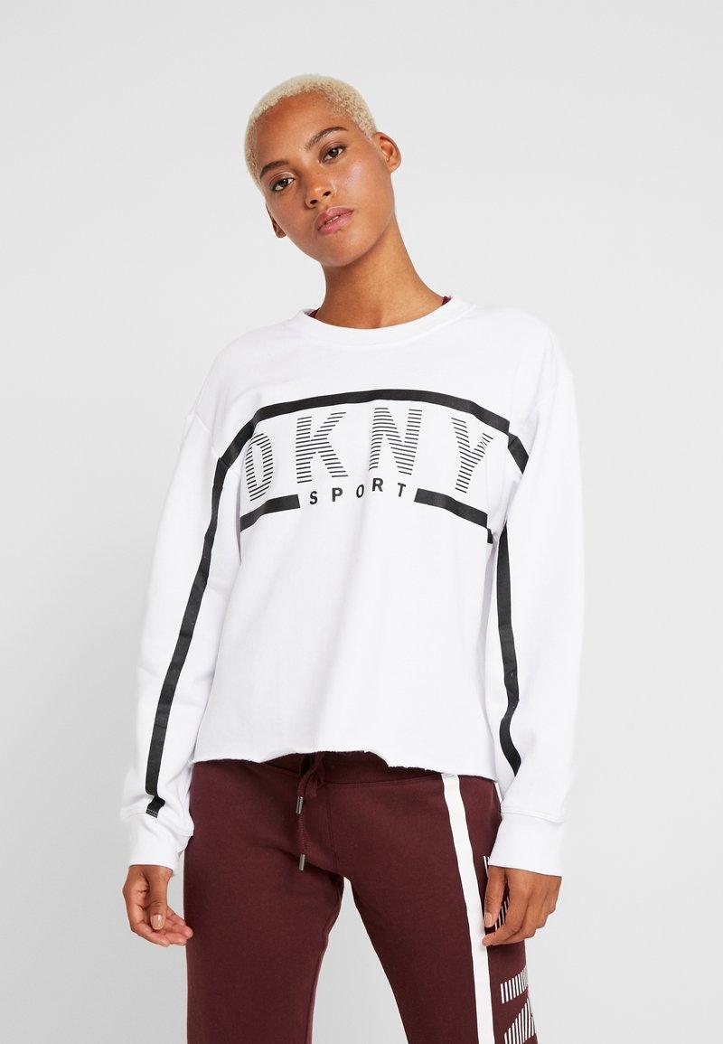 DKNY - EXPLODED STRIPE LOGO - Collegepaita - white