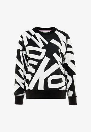 LONG SLEEVE CREWNECK RUBBER LOGO - Sweater - black