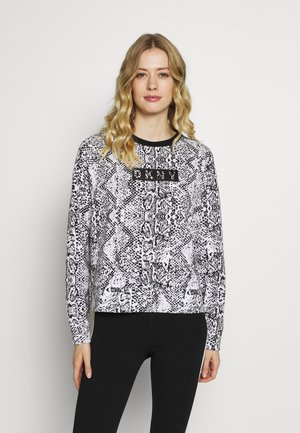 PRINTED CREW NECK - Sweater - white