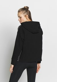 DKNY - CROPPED HOODED TAPING - Huppari - black - 2