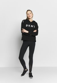DKNY - CROPPED HOODED TAPING - Huppari - black - 1