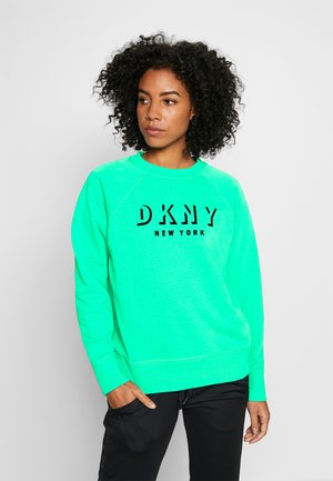 PULLOVER FLOCKED SHADOW LOGO - Sweatshirt - jade