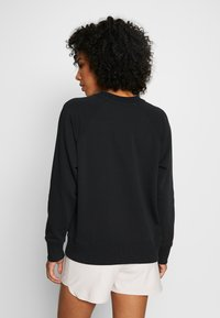 DKNY - PULLOVER FLOCKED SHADOW LOGO - Sweater - black