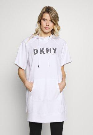 EMBROIDERED TRACK LOGOSNEAKER DRESS - Robe de sport - white