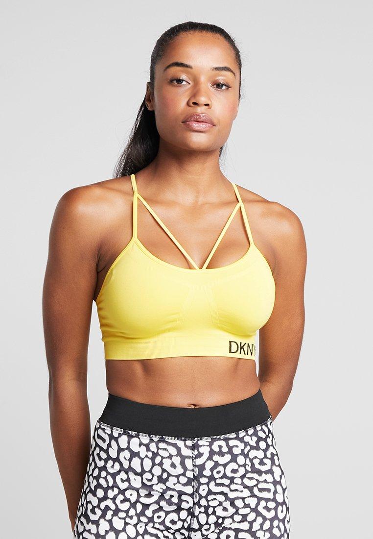 DKNY - LOW IMPACT STRAPPYSEAMLESS BRA REMOVABLE CUPS - Sports bra - sunflower