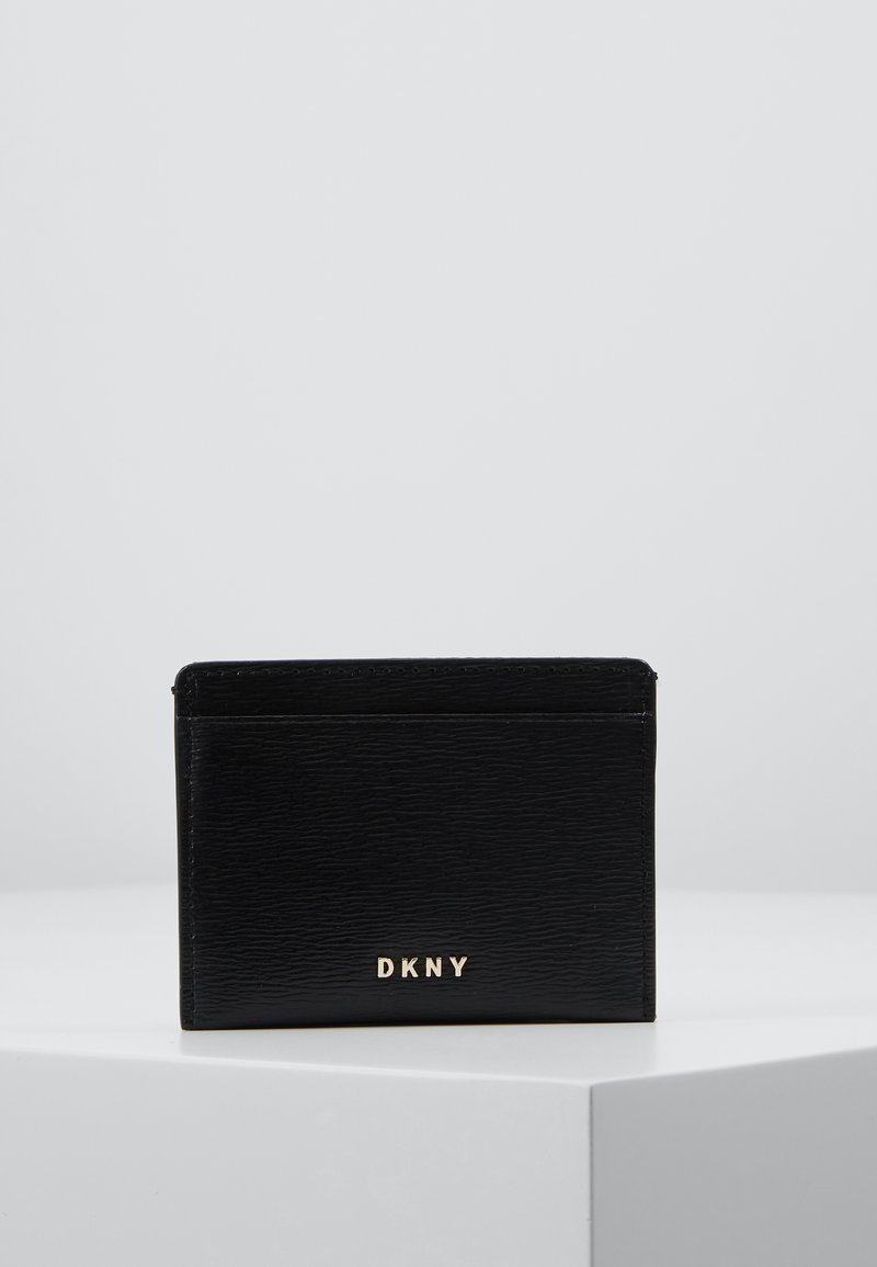 DKNY - BRYANT CARD HOLDER - Geldbörse - black/gold-coloured