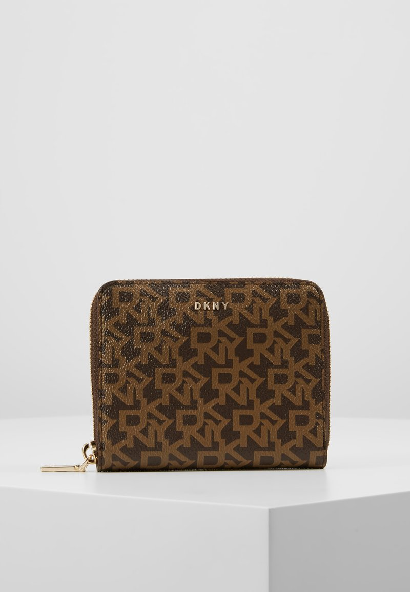DKNY - BRYANT ZIP AROUND LOGO - Wallet - bark/caramel