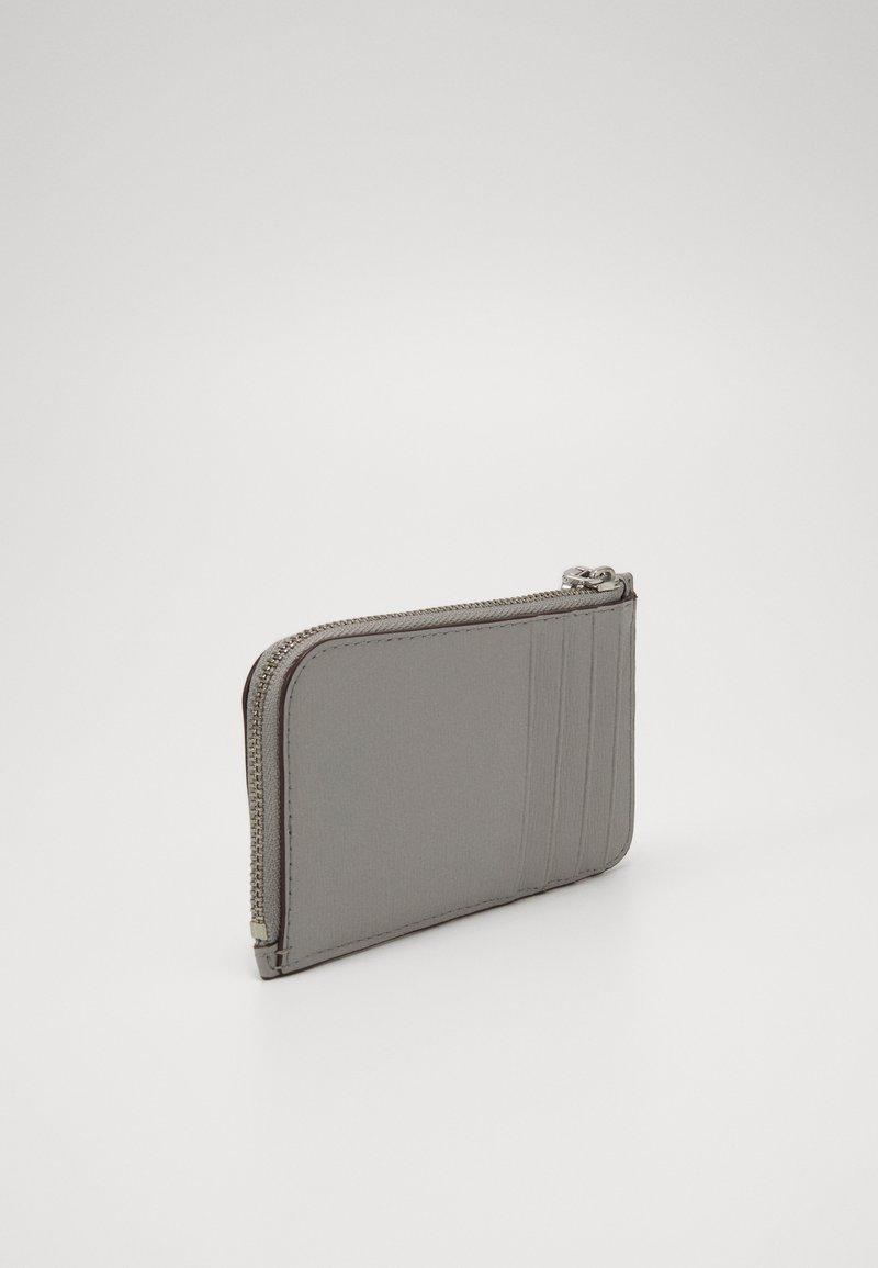 DKNY - BRYANT ZIP CARD HOLDER - Lommebok - grey melange