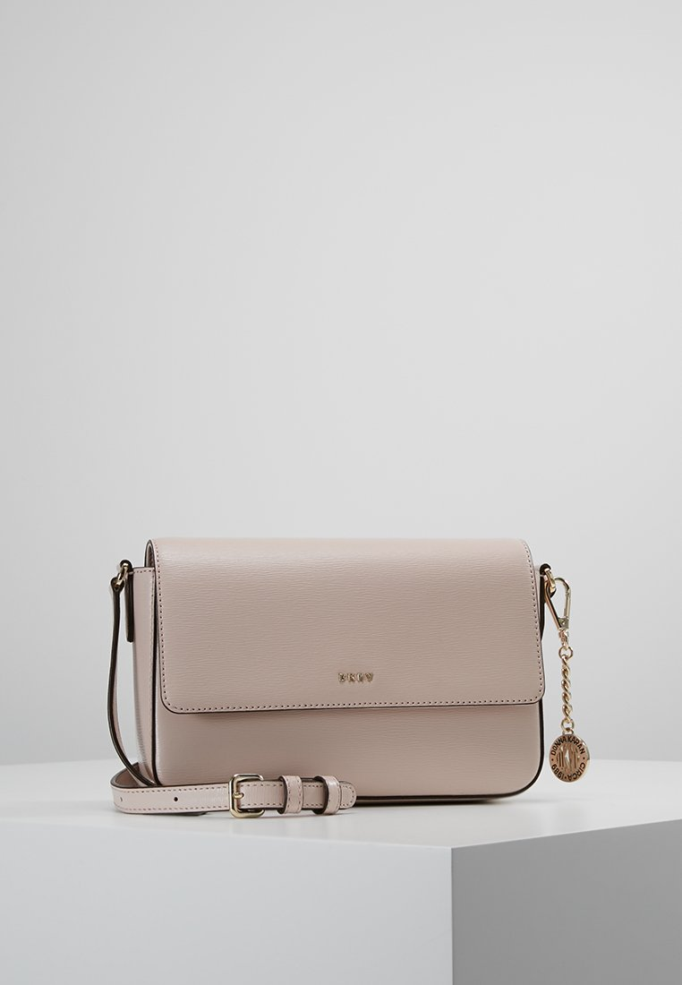 DKNY - BRYANT FLAP XBODY - Across body bag - iconic blush