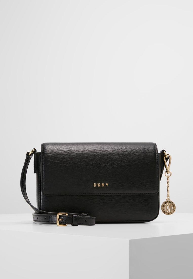 DKNY - BRYANT FLAP XBODY - Across body bag - black