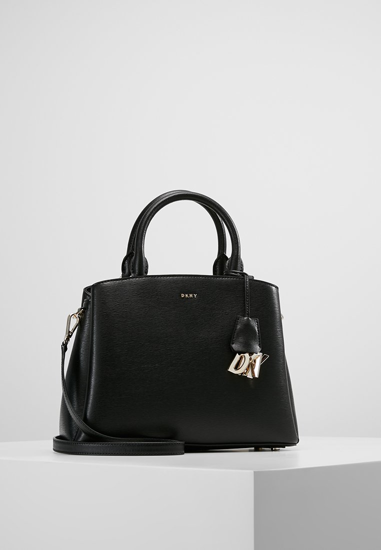 DKNY - SATCHEL - Handtasche - black/gold