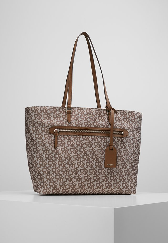 CASEY - Tote bag - brown/nude