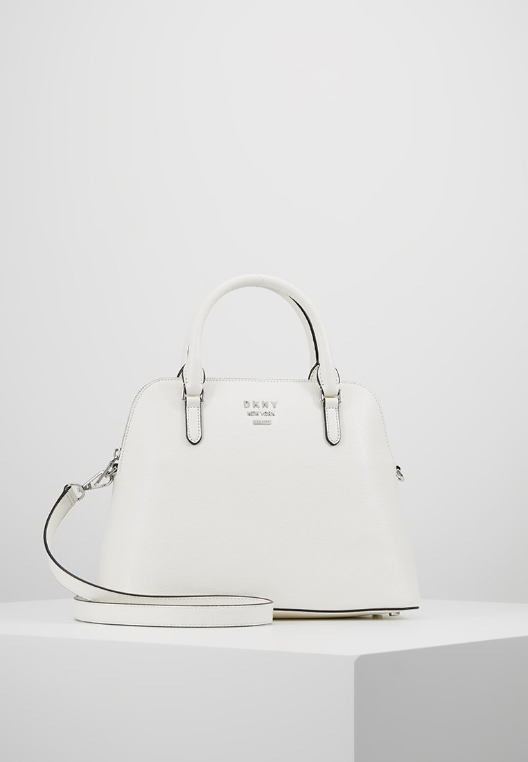 DKNY - WHITNEY LARGE DOME SATCHEL - Handbag - white