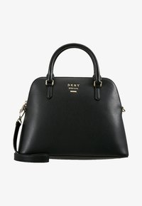 DKNY - WHITNEY LARGE DOME SATCHEL - Handtasche - black/gold - 5