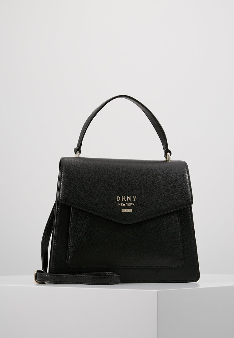 DKNY - WHITNEY SATCHEL  - Kabelka - black/gold