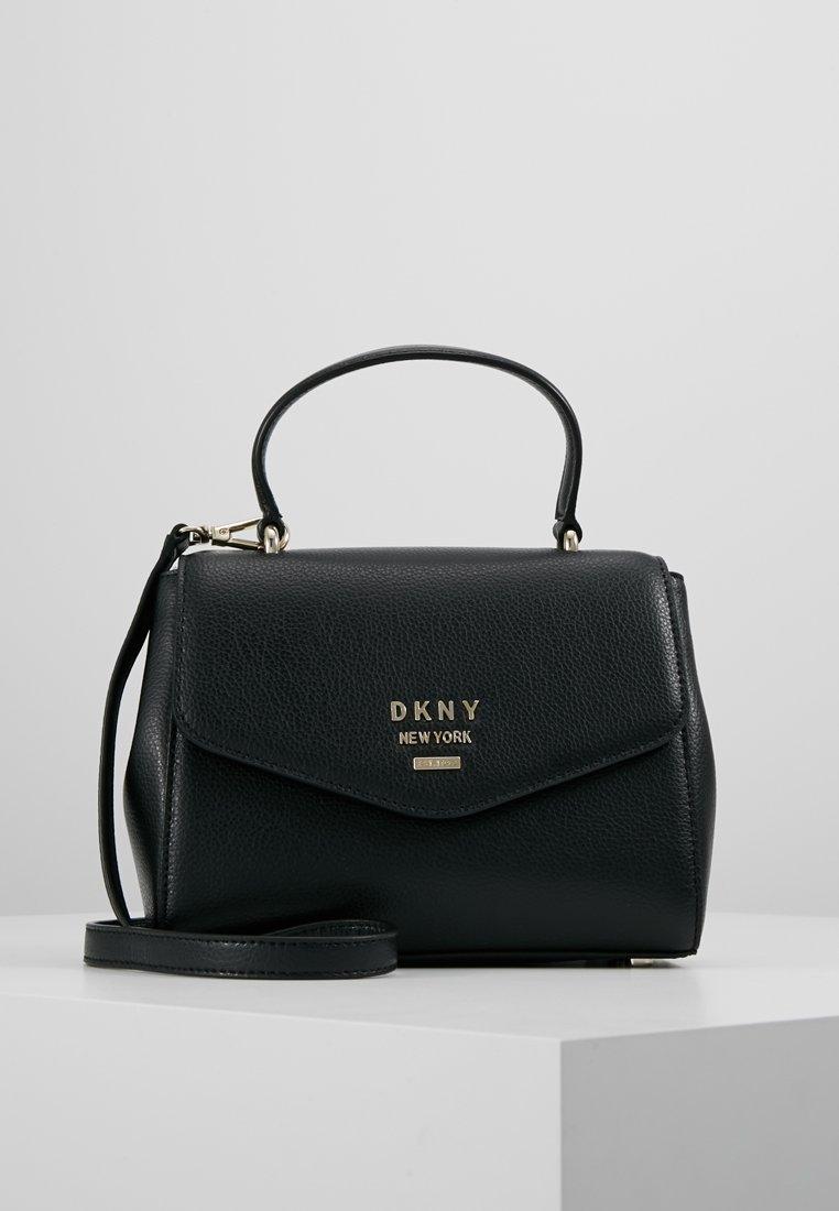 DKNY - WHITNEY SATCHEL - Umhängetasche - black/gold