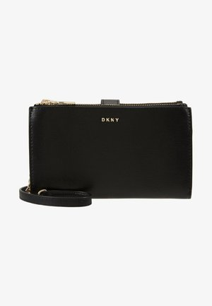 BRYANT DOUBLE ZIP CBODY WALLET - Taška s příčným popruhem - black/gold-coloured