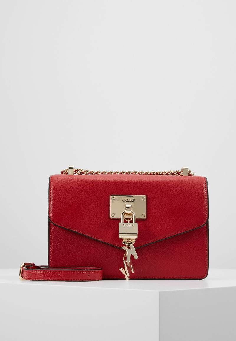 DKNY - ELISSA SMALL SHOULDER FLAP - Sac bandoulière - bright red
